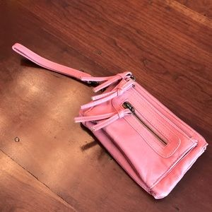 Pink Wristlet With Tons of Storage!